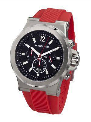 Relógio Masculino Michael Kors MK8169 Vermelho Fundo Preto