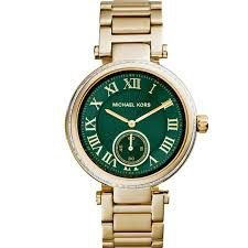 Relógio Feminino Michael Kors MK6065 Gold Fundo Verde