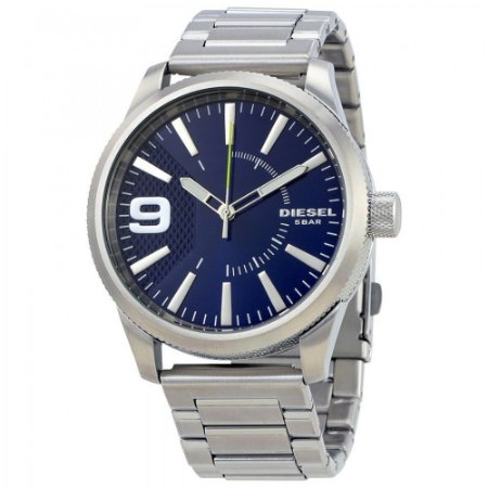 Relógio Masculino Diesel DZ1763 Prata Fundo Azul
