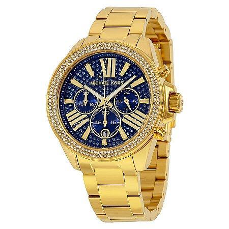 Relógio Feminino Michael Kors MK6291 Dourado Cravejado