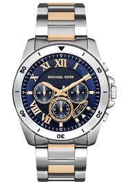 Relógio Masculino Michael Kors Mk8437 Prata Fundo Azul