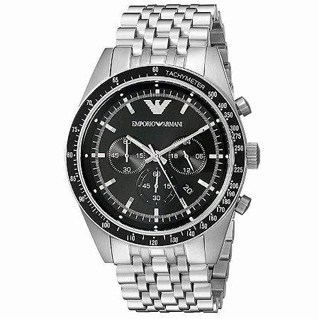 Relógio Masculino Emporio Armani AR5988 Prata Fundo Preto