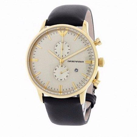 Relógio Masculino Emporio Armani AR0386 Couro