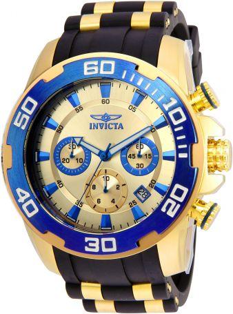 Relógio Masculino Invicta Pro Diver 22343 Ouro 18K
