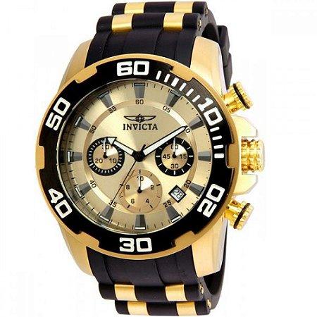 Relógio Masculino Invicta Pro Diver 22346 Ouro 18K