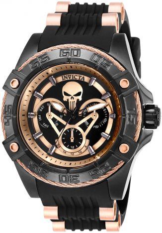 Relógio Masculino Invicta Malver 27035 Preto e Rose