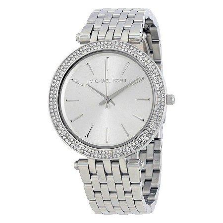 Relógio Feminino Michael Kors MK3190 Prata Cravejado