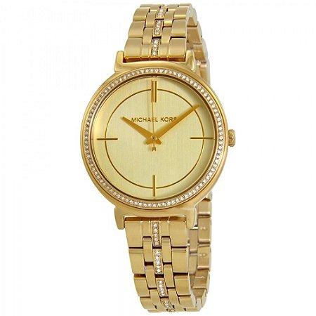 Relógio Feminino Michael Kors Mk3681 Dourado Cravejado