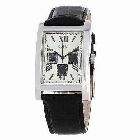 Relógio Masculino Guess W0370g1 Couro