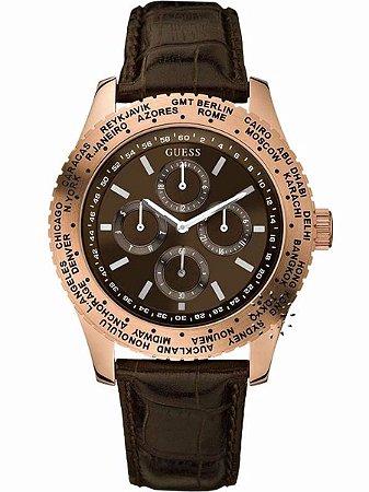 Relógio Masculino Guess W14534G1 couro