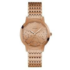 Relógio Feminino Guess W1088L2 Ouro Rose