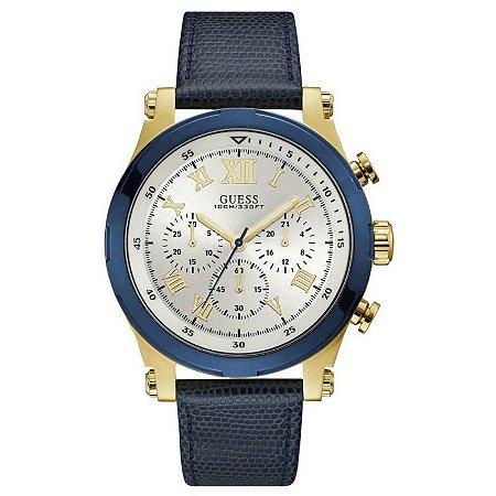 Relógio Masculino Guess W1105G1 Couro Azul
