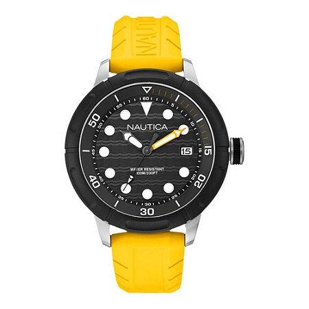 Relógio Masculino Nautica A16634G Amarelo
