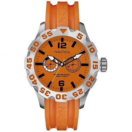 Relógio Masculino Nautica A16606G Laranja