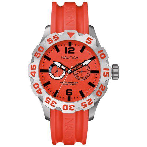 Relógio Masculino Nautica A16602G Vermelho