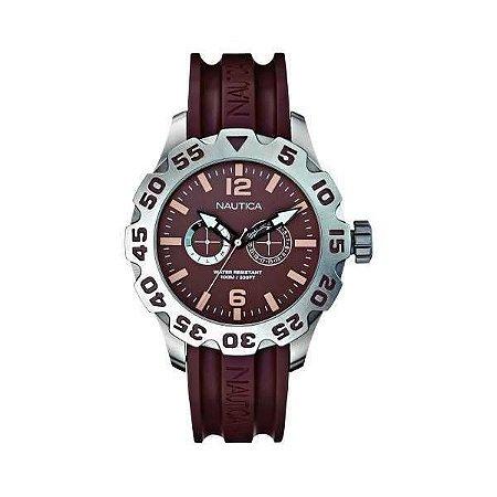 Relógio Masculino Nautica A16633G Marrom