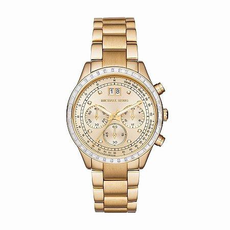 Relógio Feminino Michael Kors MK6187 Dourado Cravejado