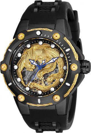 Relógio Masculino Invicta Bolt Dragão 26384 Pulseira De Silicone Preta