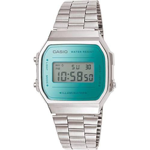 dd8b2335e18 Relógio Unissex Casio A168wem-2DF Prata - Mimports - Produtos e ...