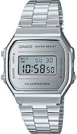 f23c160aa28 Relógio Unissex Casio Modelo A168WEM-7DF Prata - Mimports - Produtos ...