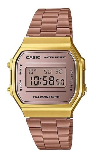 Relógio Unissex Casio Digital A168WECM-5DF Chocolate