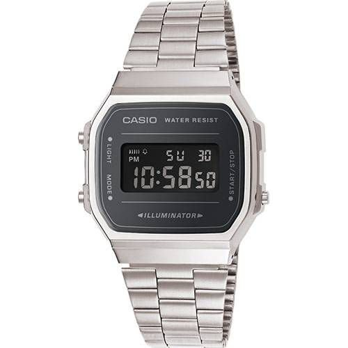 Relógio Unissex Casio Modelo a168wem-1df Prata