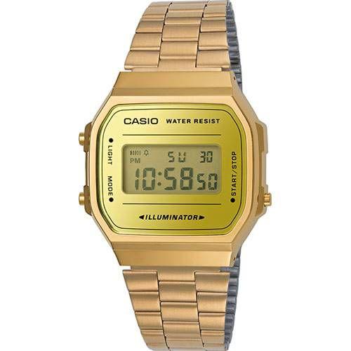 Relógio Unissex Casio Modelo a168wegm-9df Gold