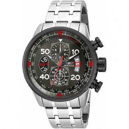 Relógio Masculino Invicta Aviator 17204 Prata