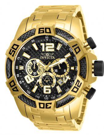 Relógio Masculino Invicta Pro Diver 25853 Banhado Ouro 18k