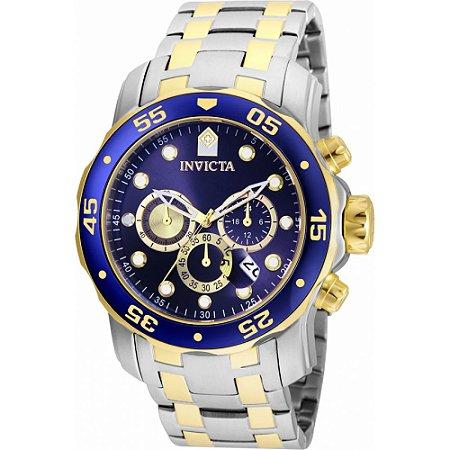 Relógio Masculino Invicta Pro Diver 24849 Banhado  Ouro 18K