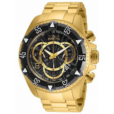Relógio Masculino invicta Excursion 24265 Banhado Ouro 18K