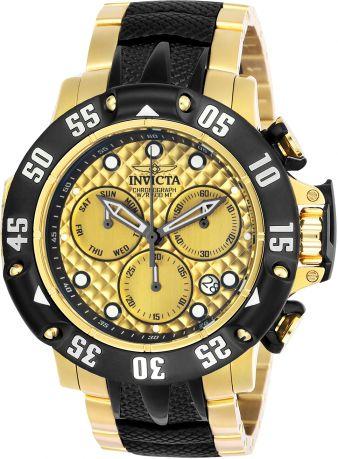 Relógio Masculino invicta Subaqua Poseidon 23805 Banhado Ouro 18k