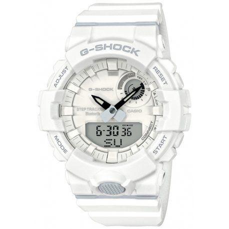 abd6db10c8c Relógio Masculino Casio G-SHOCK GBA-800-7ADR Branco - Mimports ...
