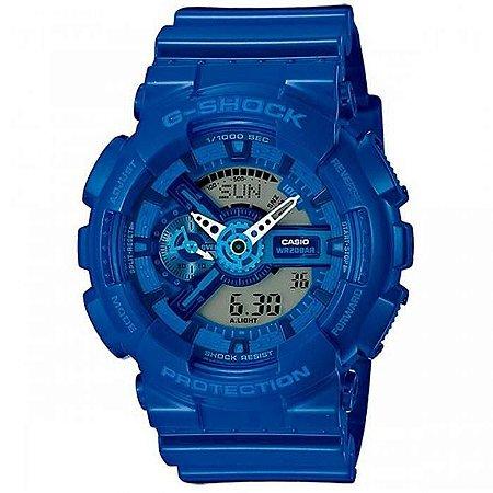 fef76433d0b Relógio Masculino Casio G-SHOCK GA-110bc-2ADR Azul - Mimports ...