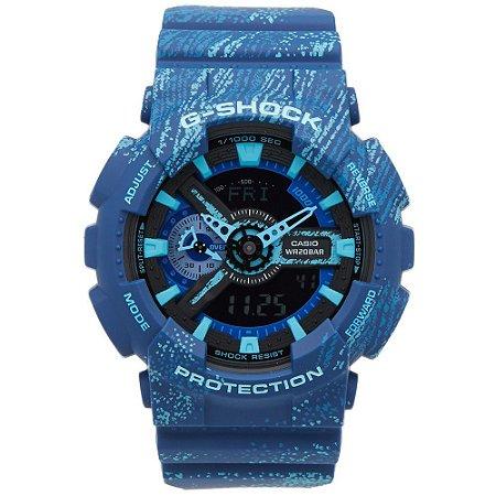 f554c770998 Relógio Masculino Casio G-SHOCK GA-110TX-2ADR Azul - Mimports ...