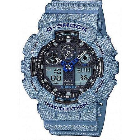 7b52f69a1c7 Relógio Masculino Casio G-SHOCK GA-100DE-2ADR Azul - Mimports ...