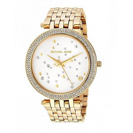 Relógio Feminino Michael Kors MK3727 Dourado Cravejado