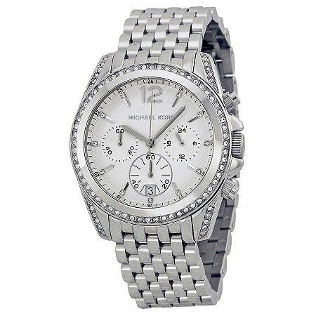 Relógio Feminino Michael Kors MK5834 Prata Cravejado