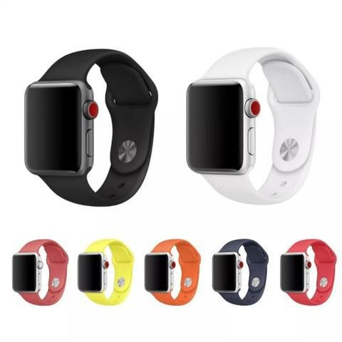 Pulseira Apple Watch Esporte Borracha lisa Original 38mm / 40mm