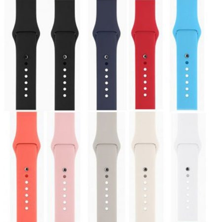Pulseira Apple Watch Esporte Borracha lisa Original 42mm