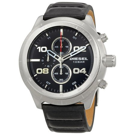 Relógio Masculino Diesel DZ4439 Couro Preto