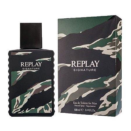 Perfume Masculino Replay Signature For Man Eau de Toilette