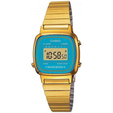 Relógio Feminino Casio Vintage LA-670WGA-2D Dourado