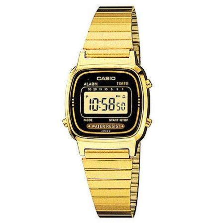 Relógio Feminino Casio Vintage LA-670WGA-1D Dourado
