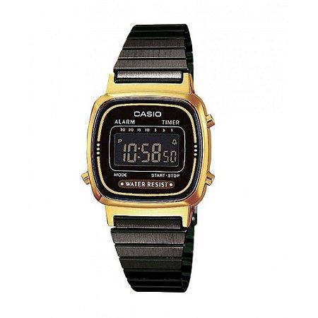 0b27239572c Relógio Feminino Casio Vintage LA-670WEGB-1B Dourado - Mimports ...