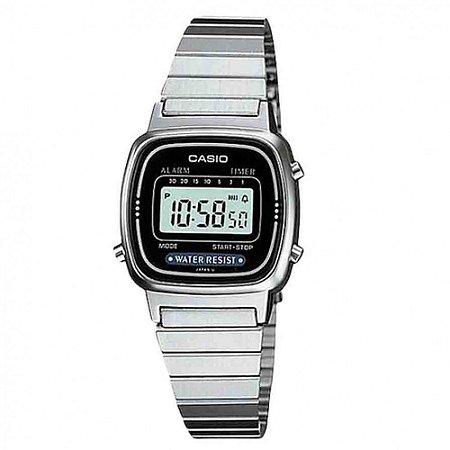 Relógio Feminino Casio Vintage LA-670WA-1D Prata