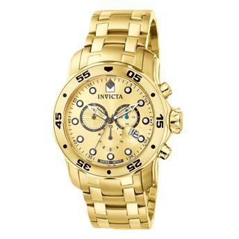 Relógio Masculino Invicta Pro Diver 0074 Dourado