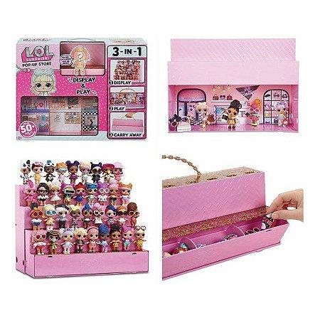 POP-UP STORE - Exiba brinque e guarde suas bonecas L.O.L. (3 em 1)