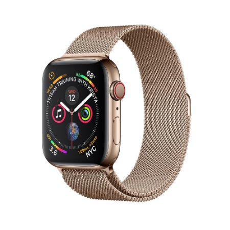 b71e3d71f56 Apple Watch Serie 4 ( Celular + GPS ) 44mm Pulseira Malha Milanese ...