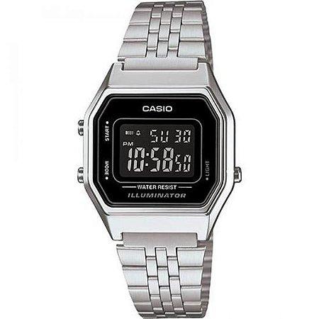 Relógio Feminino Casio Retro LA-680WA-1B Prata